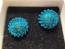 AVON VTG.*STAR SPARKLE EARRINGS W/SURGICAL STEEL POSTS IN BLUE*NIB*REDUCED*1993