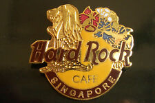 HRC Hard Rock Cafe Singapore Logo with Golden merlion