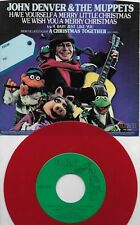 JOHN DENVER & THE MUPPETS Have Yourself A Merry Christmas RED vinyl promo 45 PS