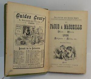 Guide Conty. Paris à Marseille Lyon, circa 1893