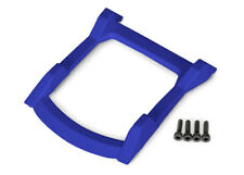 Skid plate, roof (body) (blue)/ 3x12 CS (4) for Rustler 4x4 by Traxxas TRA6728X