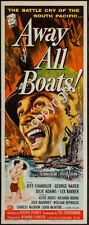 Away All Boats Movie Poster Insert 14x36 Replica