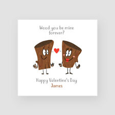 Personalised Handmade Funny Valentine's Day Card - Boyfriend, Girlfriend, Wood