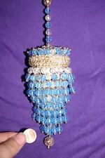 Vintage hand made Christmas Ornament  Sequins and beaded