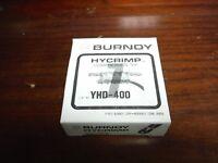 LOT OF (5) BURNDY HYCRIMP YHD-400 COMPRESSION TAP CONNECTORS