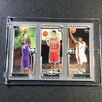 LEBRON JAMES 2003 TOPPS MATRIX #111 TRIPLE ROOKIE PANEL RC W/ CHRIS BOSH HINRICH