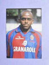 CARTOLINA UFFICIALE CALCIO POSTCARD BOLOGNA ERIBERTO SILVA 1999-2000 NEW-FIO