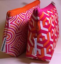 2 pc Clinique Jonathan Adler Cosmetic Makeup bags