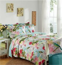Spring Bird 100% Cotton Coverlet Bedspread Comforter Bedcover Set 3pcs - Queen