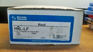 NEW SYSTEM SENSOR HRL-LF WALL FIRE LOW FREQUENCY SOUNDER RED FREE 1ST CLS S&H