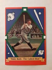 "1992 Delphi BABE RUTH ""The Called Shot"" New York Yankees Baseball Card"