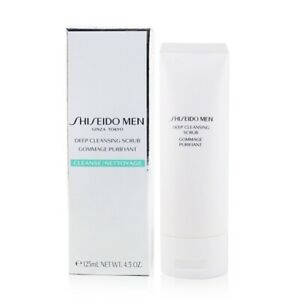 NEW Shiseido Men Deep Cleansing Scrub 125ml Mens Skin Care