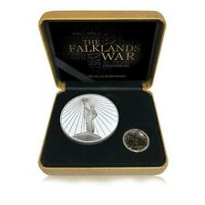 More details for the falklands war 35th anniversary commemorative silver coin medal box gift set