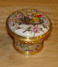 Halcyon Days Voltaire Candide Trinket Box - We must cultivate our garden 1 1/8""