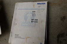 WACKER RT560 RT820 ROLLER COMPACTOR RIDE-ON Parts Manual Book List catalog spare