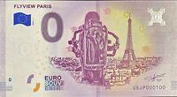 BILLET 0  EURO  FLYVIEW  PARIS FRANCE  2018  NUMERO 100