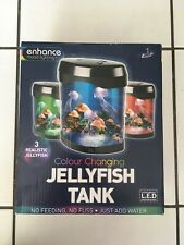 LED Jellyfish Tank Aquarium Mood Light Colour Changing + 3 Jellyfish + USB Cable