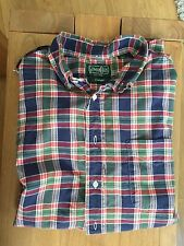 Men's Gitman Vintage Large Madras Green Red Blue Bros