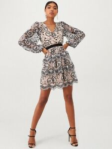 U Collection Forever Unique Long Sleeve Dress RRP:£107.99 UK 10