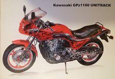 Kawasaki GPz1100A unitrack 1983 factory technical cross section cutaway poster