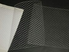 "White birdcage bridal wedding veil net over sized hat netting 36""+ x 9"""