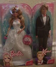 BARBIE WEDDING DAY BRIDE & KEN GROOM W/ RING FOR YOU 2010 *NEW*
