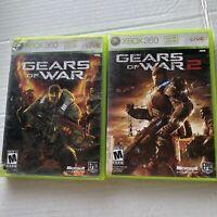 Gears of War 1 & 2  Microsoft Xbox 360 LOT -  Free Shipping