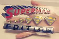 💯 SUPERMAN FAMILY EDITION Chrome 3D Auto Emblem Car Truck SUV Decal Logo Comics