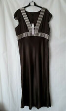Marks & Spencer 100% Silk Maxi Dress - Brown - Size 20 Long/Tall. Tagged £75