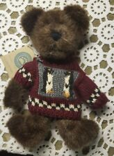 "Boyds Plush ♡ #917360 ""Wayfer North"" ♡ 10"" Jointed Brown Bear Wearing A Sweater"