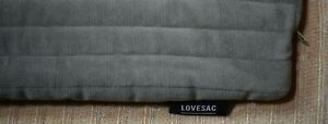 """Lovesac - Stone Quilted Heirloom Velvet Throw Pillow Cover w/Piping (18"""" x 18"""")"""