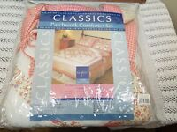 New In Packet Vintage Patchwork Double Bedspread Comforter Set 2 x Pillowcases
