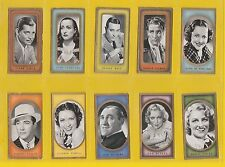 FILM  STARS  -  CARRERAS  -  SCARCE SET OF 50  FILM  FAVOURITES CARDS  -  1938
