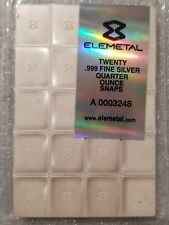 5 oz .999 silver divisible bar barter prepper 20 1/4 oz easy break snap bullion