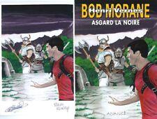 EO SERGE ALLEMAND + BOB MORANE HC N° 60 + EX LIBRIS SIGNÉ ASGARD LA NOIRE