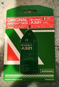 Aviationtag Alitalia Airbus A321 (I-BIXN) Green Rare sold out New Release