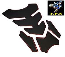 Negro y Rojo Motocicleta Decal Sticker Tank Pad Yamaha Suzuki KTM Honda Kawasaki