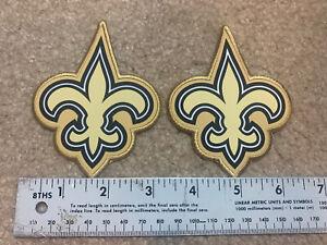 "2 New Orleans Saints Gold Pro Bowl NFL Game Jersey Patches Ripon Authentic 3.25"""