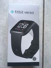 Fitbit Versa 2018 Smart Fitness Tracker Watch Black Aluminium