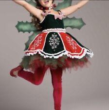 1a382139692 CHASING FIREFLIES Girls 6 Small Red Green Fairy Tutu Dress Christmas Costume
