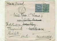 bolivia 1928 please forward stamps cover Ref 9716