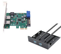 USB 3.0 PCIE Card Adapter+20pin to 2 port usb3.0 hub 3.5 Floppy bay Front Panel