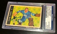 JOHNNY BOWER SIGNED 1961 PARKHURST CARD #3 PSA/DNA Auto MAPLE LEAFS