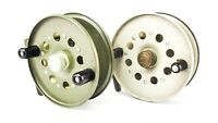 """PAIR OF STRIKE RIGHT 4"""" CENTREPIN REELS"""