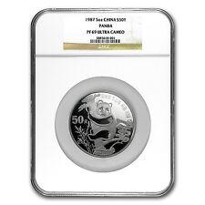 1987 China 5 oz Silver Panda PF-69 NGC - SKU #62016