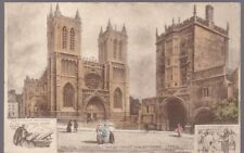 Gloucestershire Glos BRISTOL Cathedral Artist R R Philimore c1900/10s? PPC