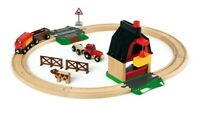 BRIO Farm Railway Set, Toy Train Set for Kids Age 3 and Up, 33719