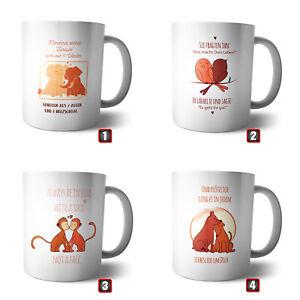 Coffee Mug-Cup Honey Bear   Bird Elephant Monkey Dog Love Couple Home