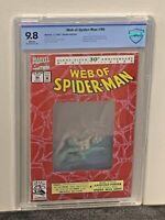 WEB OF SPIDER-MAN 9.8 HIGHEST Grade 30th Hologram Cover Marvel Comics CGC<CBCS