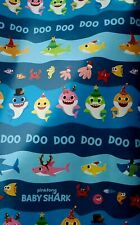 Baby Shark Gift Wrap Wrapping Paper Roll Christmas Holiday 60 Sq.Feet New